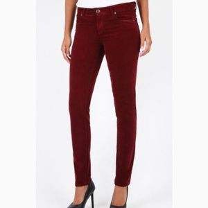 Kut from the Kloth red corduroy Diana Skinny jean